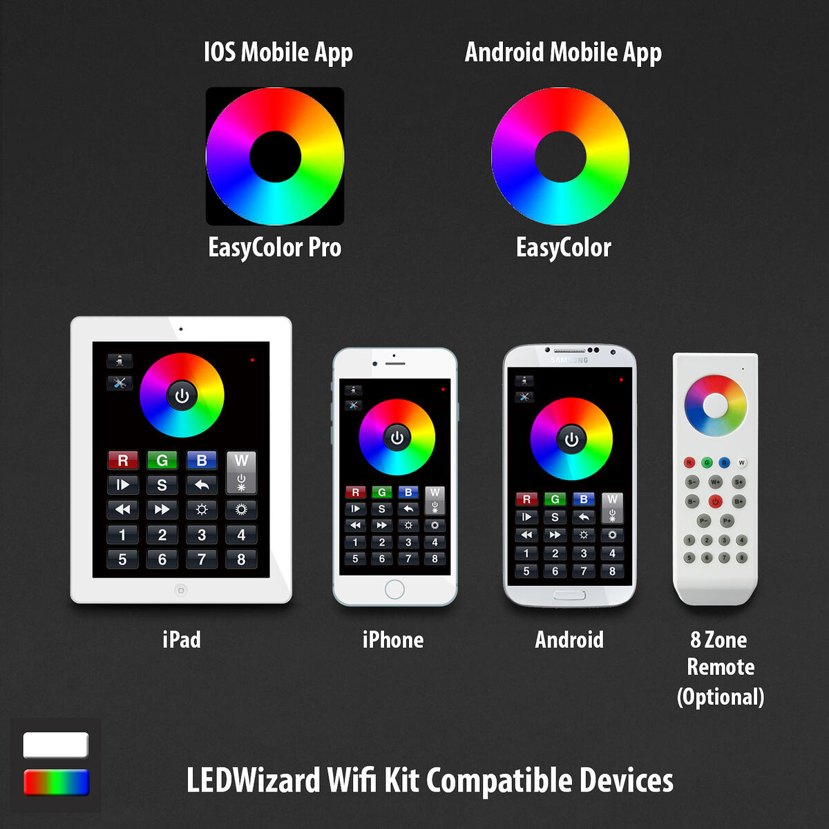 Ledwizard Smartphone Tablet Led Controller