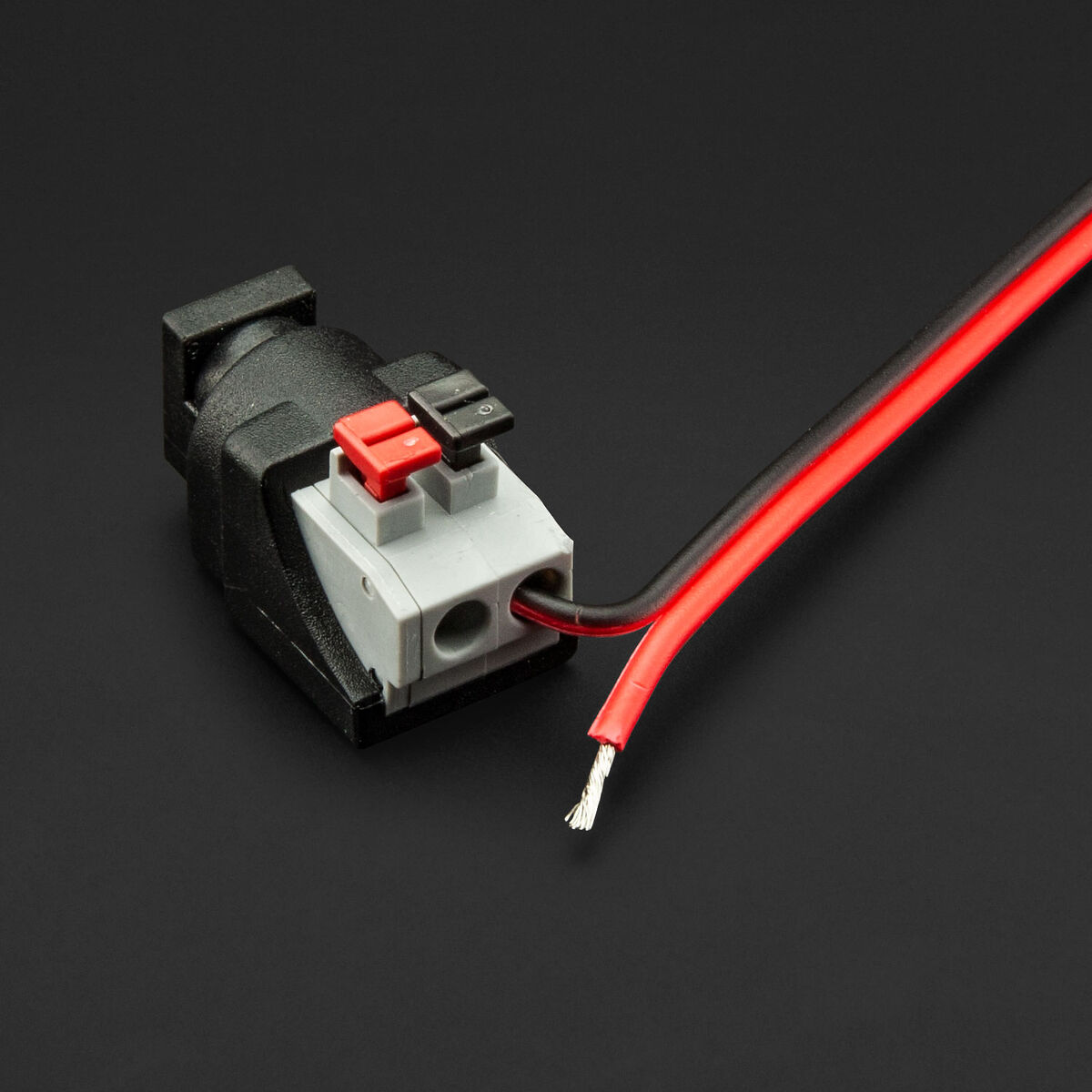 Push Down Female Barrel to 2 Wire Connector push down female barrel to 2 wire connector