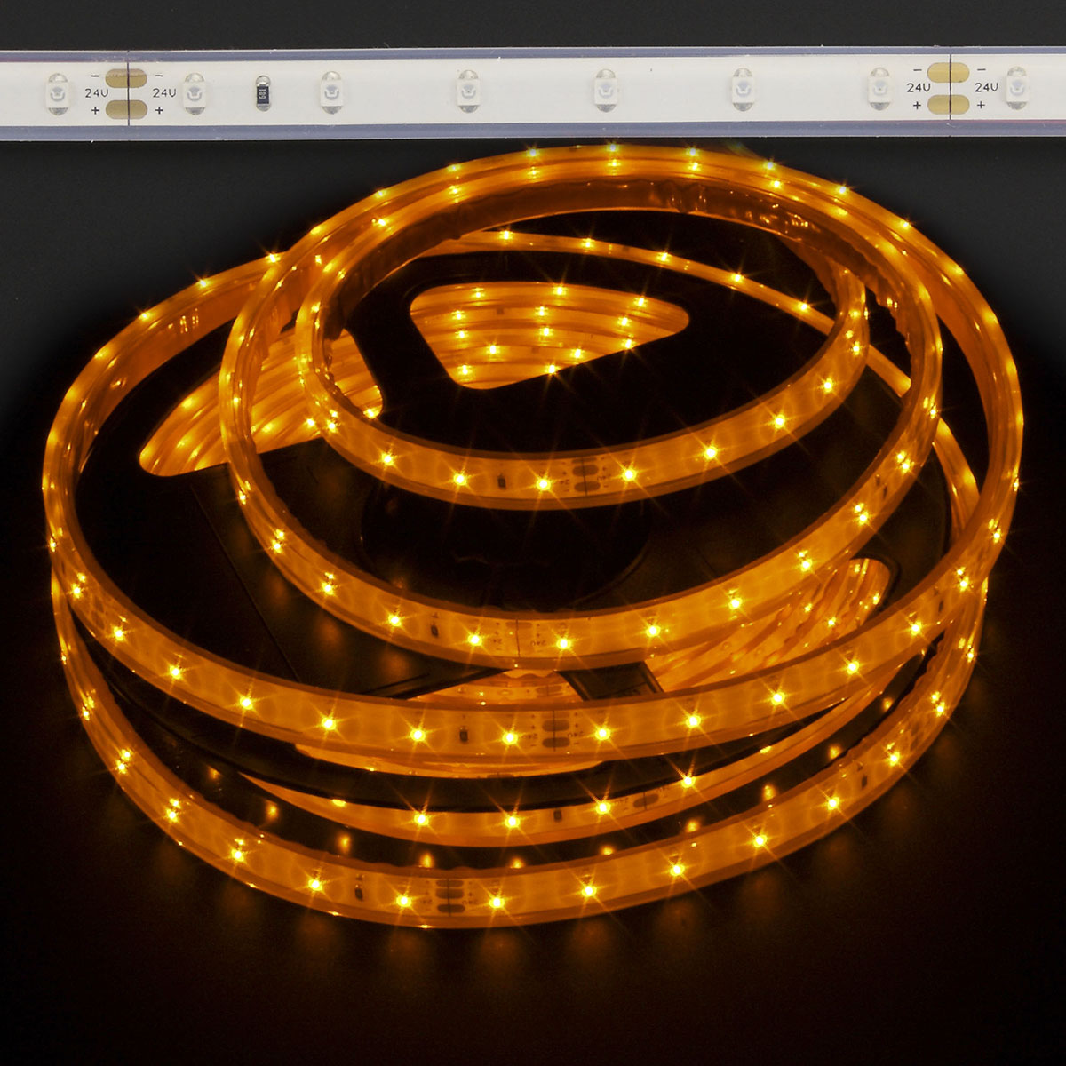 Amber Waterproof 3528 Eco 24w Accent Led Strip Light