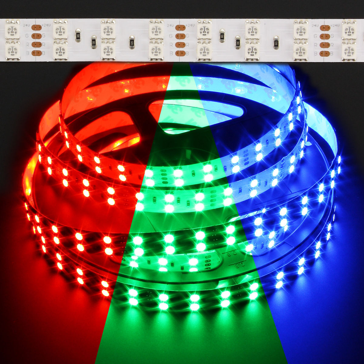 Color Changing Led Light Strips: Color Changing RGB 5050 Double Row 144W LED Strip Light