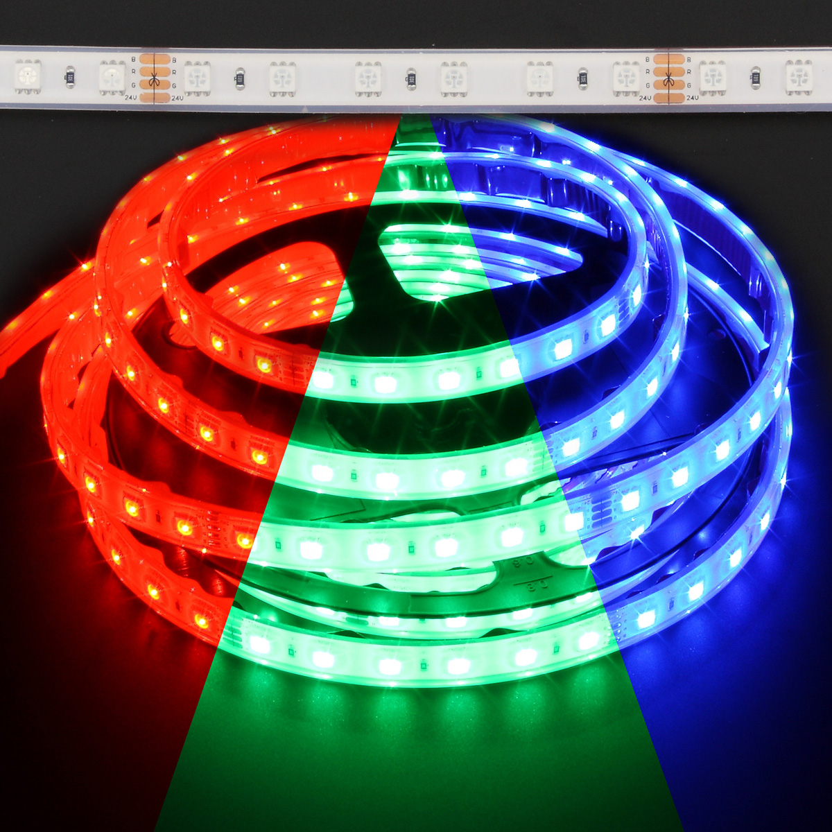 Color Changing Led Light Strips: Waterproof Color Changing RGB 5050 72W LED Strip
