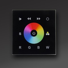 Black IN-WALL DMX RGB-W LED Controller