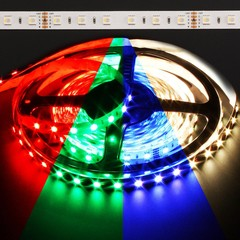 Color Changing RGB + Warm White Quadchip 5050 72W LED Strip Light