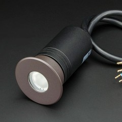 Pathway RGB Dimmable LED In-Ground Landscaping Light with Coffee Brown Cover