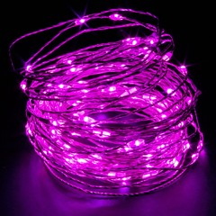 Pink LED String Light 65ft