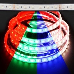 Waterproof Color Changing RGB + Daylight White Quadchip 5050 72W LED Strip