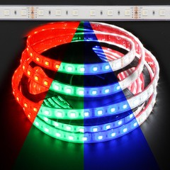 Waterproof Color Changing RGB + White Quadchip 5050 72W LED Strip