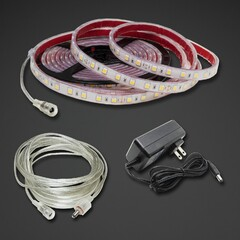 Waterproof White LED Strip Kit