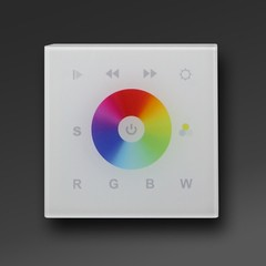 White IN-WALL DMX RGB-W LED Controller