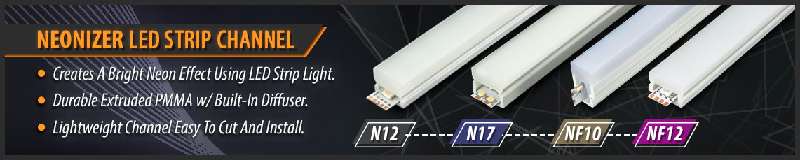 Solid Apollo LED Neonizer LED Strip Channels