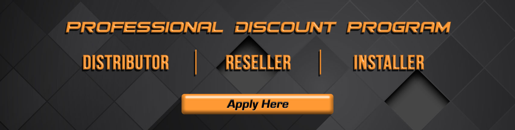 Are you a reseller looking for professional discounts?